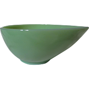 Vintage Fire King Jadeite Swedish Modern Mixing Bowl