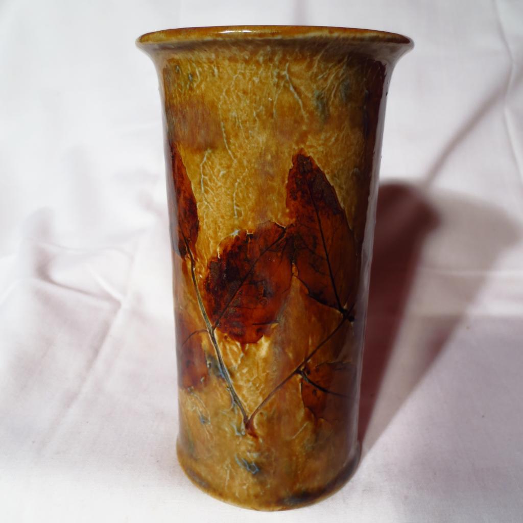 Royal Doulton Fall Autumn Leaves Stoneware Vase