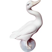 Lladro Bisque Duck Figurine