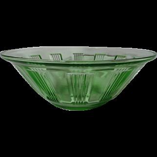 Hazel Atlas Green Kellogg's Wagon Wheel Depression Glass Bowl