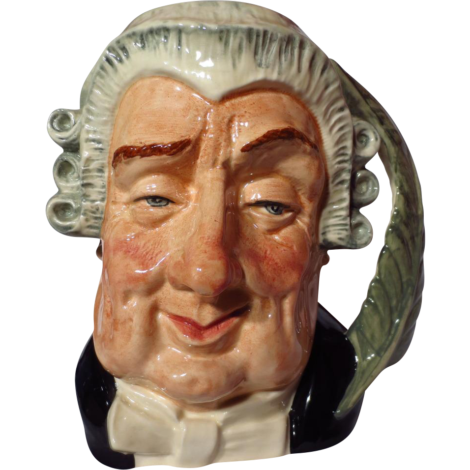 "Royal Doulton ""The Lawyer"" Large Character Jug ~ Model D6498"