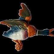 Vintage Beswick Mallard Duck Wall Figurine ~ Model 596/1