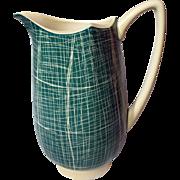 Vintage Carlton Ware Australian Design Barkcloth Pitcher