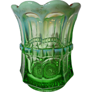 Northwood Glass Green Opalescent Regal Spooner