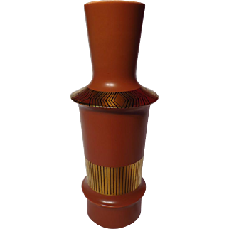Mid-Century Design Crown Devon Memphis Vase ~ Terracotta Colorway
