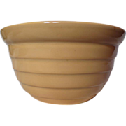 Brush Pottery Advertising Ringware Mixing Bowl
