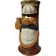Eakin Stoneware Studio Pottery Face Mug Or Stein