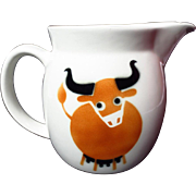 Arabia Finland Kaj Franck Brown Cow Medium Pitcher