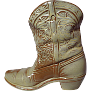 Frankoma Pottery Desert Gold Cowboy Boot Wall Vase ~ Model 133