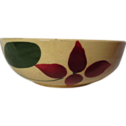 Vintage Watt Pottery Yelloware Starflower Individual Salad Bowl