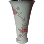 Royal Dux Czechoslovakian Vase - Poppies