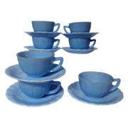Vintage Pyrex Delphite Pie Crust Cup & Saucer Set - 7 Available
