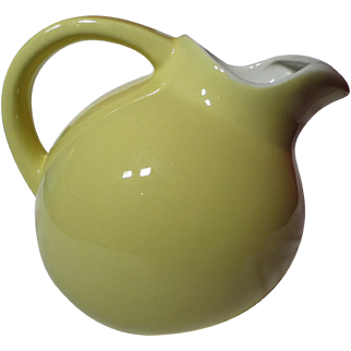 Vintage Medalta Yellow Restaurant Ware Vitrified Ball Pitcher