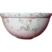 Rare Medicine Hat Pottery Decorated Large Mixing Bowl
