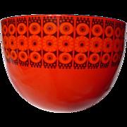 Vintage Finel Kaj Franck Red Daisy Enamelware Bowl