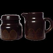 Royal Doulton Marbella Stoneware Creamer & Covered Sugar