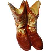 Vintage McCoy Cowboy Boots Vase