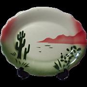 Jackson China Restaurant Ware Airbrushed Cactus Pattern Fluted Platter