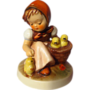 Goebel Hummel 57/0 Chick Girl Figurine - 3rd Trademark