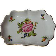 Herend China Rose Decorated Trinket Dish 7798
