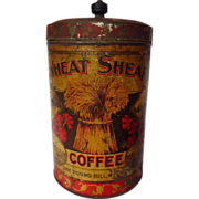 Vintage Wheat Sheaf Coffee One Pound Tin