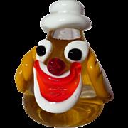 Vetro Artistico Veneziano Murano Clown Head Paperweight