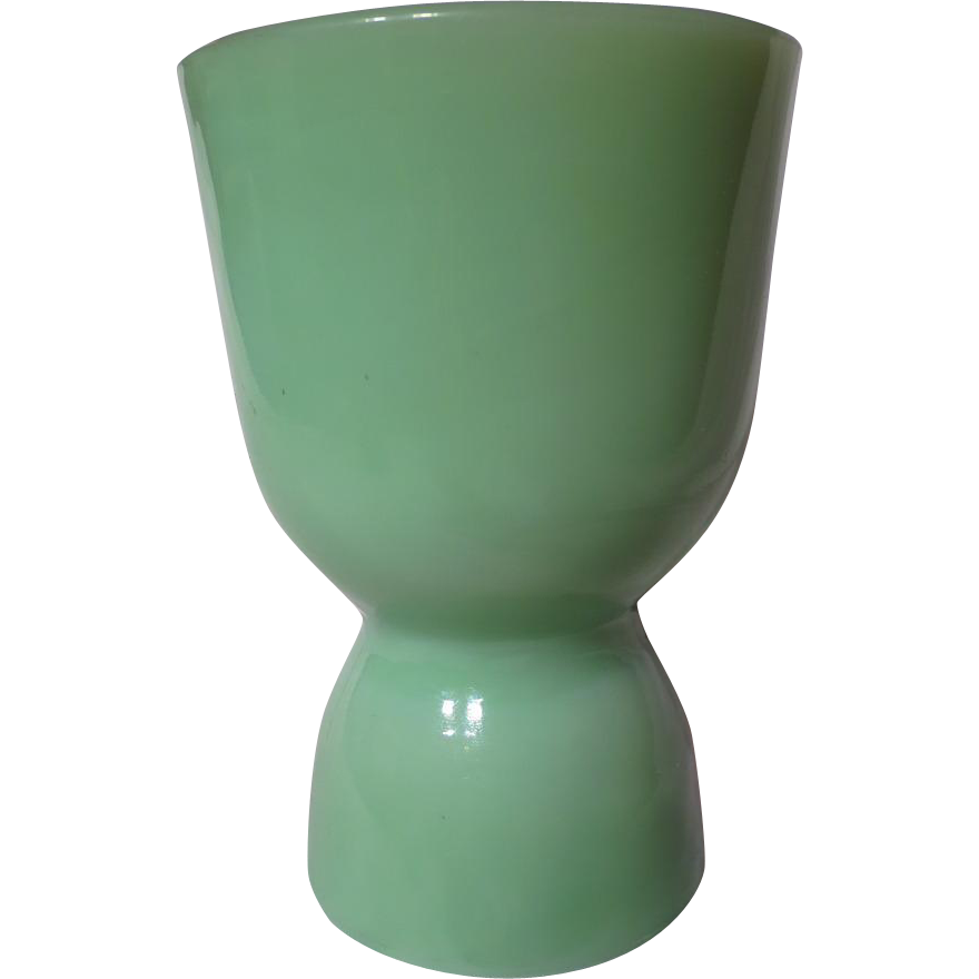 Vintage Fire King Jadeite Double Egg Cup