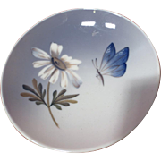 Royal Copenhagen Butterfly and Daisy Pin Dish