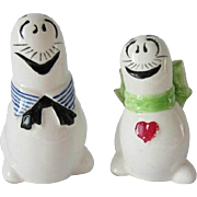 Rare Al Capp Li'l Abner Shmoo Cartoon Comic Salt And Pepper Shakers