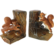 Vintage Norcrest Squirrel Book Ends