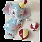 Adorable Lefton Elephant Wall Pocket – Mint in Original Box
