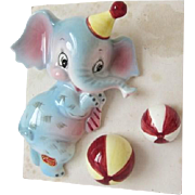 Adorable Lefton Elephant Wall Pocket – Mint in Original Box