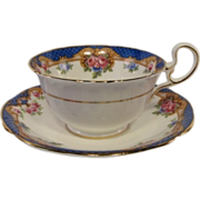 Early AYNSLEY Decorative Tea Cup and Saucer