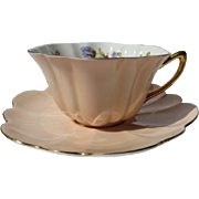 Elegant Shelley Stratford Shaped Tea Cup and Saucer