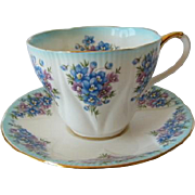 "Royal Albert Dainty Dina Series ""EMILY"" Tea Cup and Saucer"