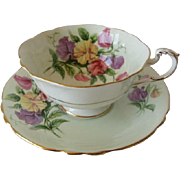 Vintage PARAGON Sweet Pea Tea Cup and Saucer