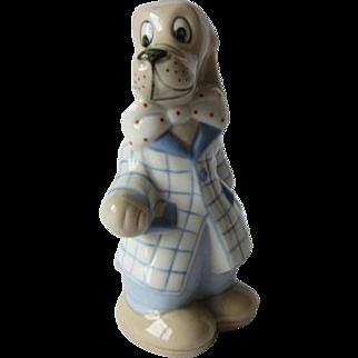 Royal Dux Cartoon Beagle Dog Figurine
