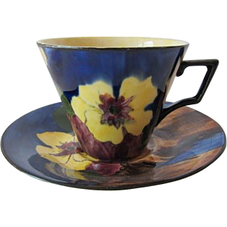 Vibrant H & K Tunstall Tea Cup And Saucer