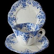 Shelley Fine China Dainty Blue Pattern Trio