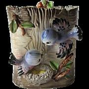 Adorable LEFTON Purple Birds Cookie Jar