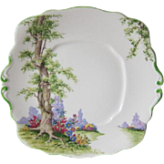 Royal Albert GREENWOOD TREE Cake Plate