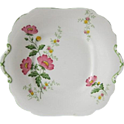 Early AYNSLEY Floral Decorated Cake Plate