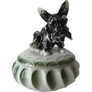 Art Deco Scottie Dog Dresser Box - Stitzendorf Porcelain