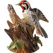 Vintage Woodpecker Figurine - Shafford Bird Collection