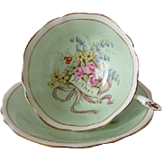 "PARAGON Hand Painted Floral ""Mother"" Tea Cup and Saucer"