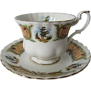 Royal Albert Knotty Pine Tea Cup and Saucer