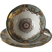 Vintage PARAGON Tea Cup and Saucer Decorative Gilt Overlay