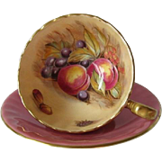 AYNSLEY, c.1950's Artist Signed D. Jones Tea Cup and Saucer