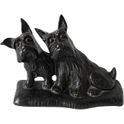 Cast Iron Scottie Dogs Doorstop c.1931