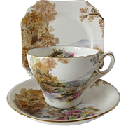 Shelley China Trio - Heather Pattern